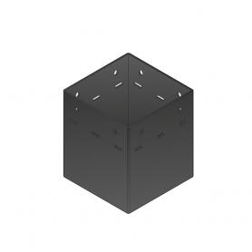 Patka sloupku trámová ozdobná černá - SDP 90A 94x94x90x2,0