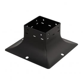 Patka sloupku trámová ozdobná černá - SDP 90B 95x95x90x2,0