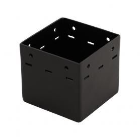 Patka sloupku trámová ozdobná černá - SDP 100A 101x101x90x2,0