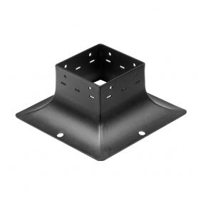 Patka sloupku trámová ozdobná černá - SDP 100B 101x101x97x2,0