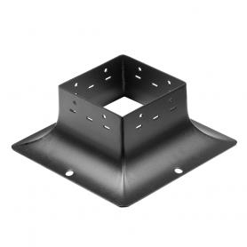 Patka sloupku trámová ozdobná černá - SDP 120B 121x121x97x2,0