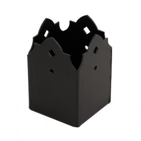 Patka trámu ozdobná černá - SDSP 70A 71x71x115x2,0