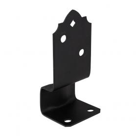 Patka sloupku ozdobná černá - SDPSK 70x70x164x3