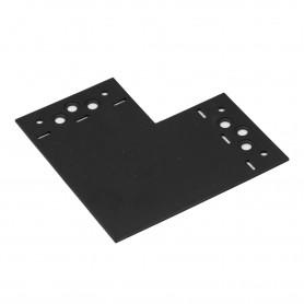 Spojka plochá tvar L ozdobná černá - SDLPD 146x146x85x2,5