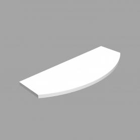 LUX Police laminovaná zakulacená bílá 595x195x145x18