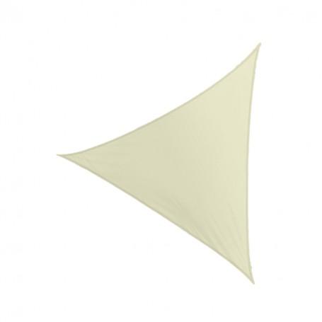 Trojúhelníková stínící sluneční plachta - béžová