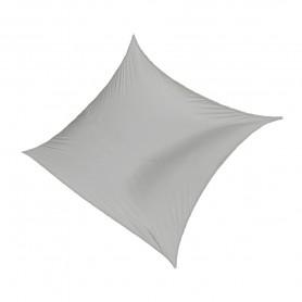 Čtvercová stínící sluneční plachta - šedá