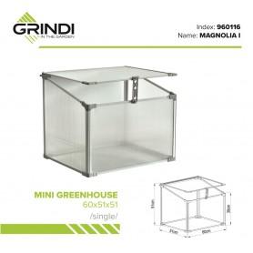 Polykarbonátový zahradní skleník - 60x51x51 - jednotný