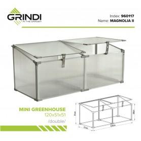 Polykarbonátový zahradní skleník - 120x51x51 - dvojitý