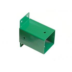 Stěnová kotvící botka čtvercového trámu 90x90 zelená