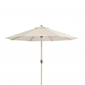 Dřevěný zahradní slunečník - ALU WOOD béžový - 350x264