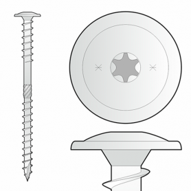 Šrouby pro nadkrokevní izolaci TORX 8mm - WKT - Hlava válcovitá
