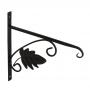 UK 2 držák závěsného květináče - list černý 280x275