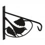 UK 3 držák závěsného květináče - ptáček černý 210x250