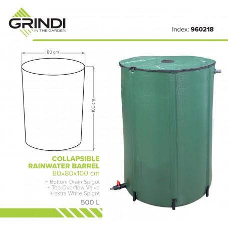 Nádrž na dešťovou vodu, okapová voda - 500L - Skládací