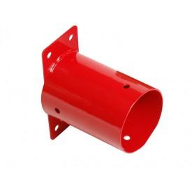 Kulatá nástěnná spojka - červená - GHSO