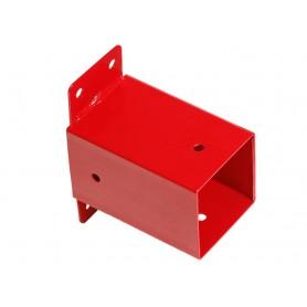 Čtvercová nástěnná spojka - červená – GHSK