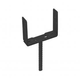 Dekorativní patka sloupku – stavitelná – PSRU – černá
