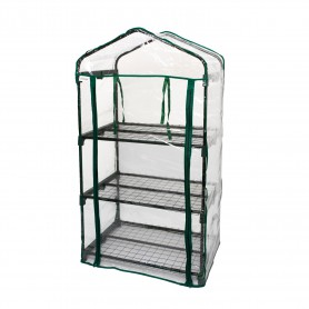 3 police zahradní skleník - 70x50x125 - Crocus I transparentní